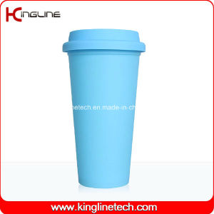 Latest Design 500ml Silicone Coffee Cup with Silicone Band and Cover Supplier (KL-CP003) pictures & photos