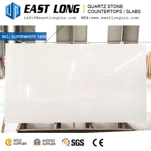 Super White Quartz Stone Slabs for Engineered Quartz/ Vanity Tops/Floor Tile with Polished Stone Surface pictures & photos