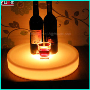 LED Wireless Light up Plastic Wine Fruit Tray pictures & photos