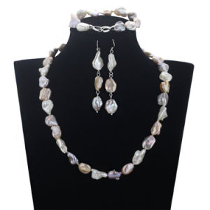 Snh 12mm Keshi Beads Pearl Set Wedding Bridal Necklace Set Pearl
