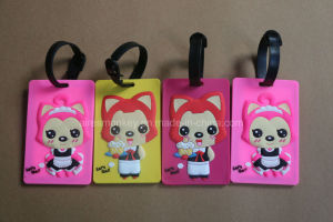 Customized Logo Promotional Silicone/PVC Luggage Tag pictures & photos