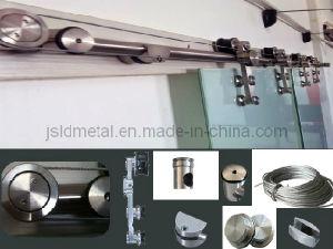 "142"" Double Glass Manual Operation Synchronous Sliding Door, Home Interior Door"