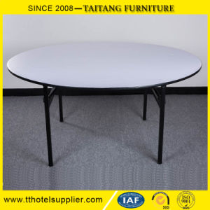 Hotel Banquet Use PVC Top Iron Frame Folding Table pictures & photos
