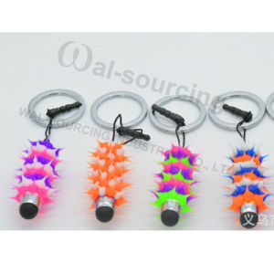 Soft Rubber Silicone Spiky Stylus Ballpoint Pen