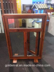 Wood-Grain Aluminum Casement Windows for Decoration