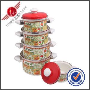 5 PCS Eco-Friendly Cast Iron Enamel Cookware Set with Lid pictures & photos