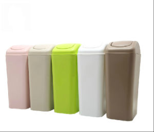 Eco-Friendly PP Material Fashion Beautiful Plastic Dustbins pictures & photos