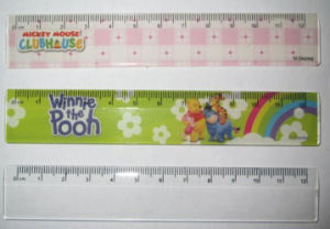 12 Cm Transparent Plastic Ruler for School or Office Stationery pictures & photos