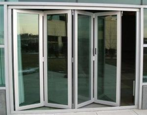 Thermal Break Aluminum Patio Door Exterior Glazing Bi Folding Door Factory