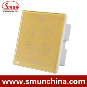 4key Touch Switch Golden Lamp Switches for Wall pictures & photos