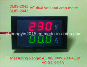 Dl85-2041 LED Display AC Dual Panel AMP and Volt Meter pictures & photos