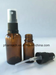 Amber Essential Oil Glass Bottle with Plastic Liquid Sprayer pictures & photos