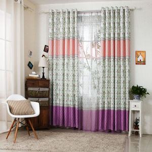 Countryside Style Print Curtain New Flower Curtain (KS-156) pictures & photos