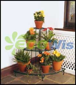 3-Tier Metal Corner Garden Potted Plant Stand (HT5602) pictures & photos