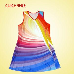Wholesale Polyester/Spandex Heat Transfer Printing Custom Design Fashion Design & Cheap Women Netball Dress