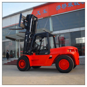 10 Ton Diesel Forklift with CE (CPCD100) pictures & photos