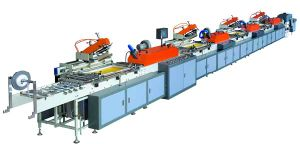 Mhs-300 Type Strip-Type 4-Color Silk Screen Printing Machine (roll to roll) (MHS-300)