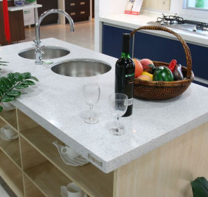 Precut Solid Surface Artificial Stone Kitchen Island (C1705107) pictures & photos
