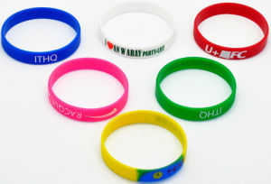 Promotional Silicone Bracelet with Logo Printing pictures & photos