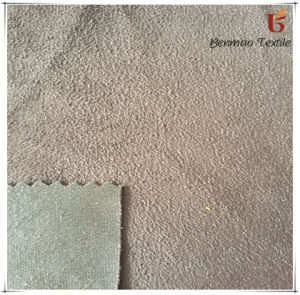 100%Polyester Suede Fabric/Kintted Suede Fabric for Garments