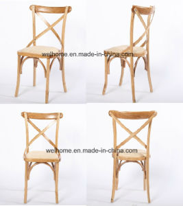 High Quality Wooden Cross Back Chair for Restaurant pictures & photos