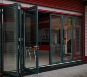 Powder Green Aluminium Folding Door pictures & photos