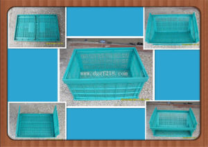 Eco-Friendly Top Quality Plastic Folding Storage Basket for Warehouse pictures & photos