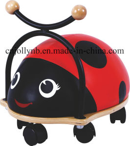 Specifical Customized Wooden Baby Walker/Ride on Ainimals, Ladybug