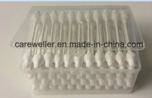 Cotton Swab/ Plastic Stick Cotton Swab/ Double Head Cotton Swab for Cosmestic Use pictures & photos