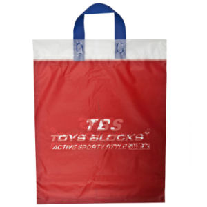 Branded CPE Custom Print Loop Handle Bags for Garments (FLL-8381) pictures & photos