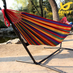 Wide Stripes Rainbow Colored Cotton Hammock pictures & photos