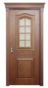 Red Oak Entrance Glass Wooden Door for Villa pictures & photos