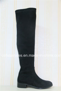 Elegant Fashion Winter Long Low Heel Lady Boot pictures & photos