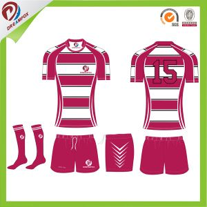 Wholesales Sublimated Customized Team Club Striped Rugby Jersey Custom pictures & photos
