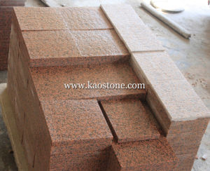 Flamed Red Granite Stone Cobble for Outdoor Paving pictures & photos