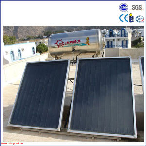 Compact Flat Plate Solar Water Heater Collector System pictures & photos