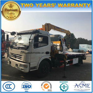 6 Wheels Wrecker Truck Mounted with Crane for Sale pictures & photos
