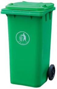 Mobile Industrial Waste Container 240lt Green pictures & photos