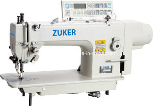 Zuker Heavy Duty Big Hook Direct Drive Top and Bottom Feed Lockstitch Sewing Machine (ZK-0303D)