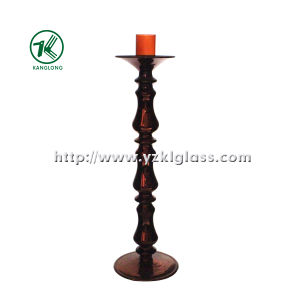 Glass Candle Holder for Party Decoration with Single Post (9*31) pictures & photos