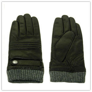 Lady Fashion Leather Gloves (JYG-25234) pictures & photos