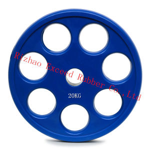 Gym Equipment Fitness Equipment 7 Holes Color Rubber Plate