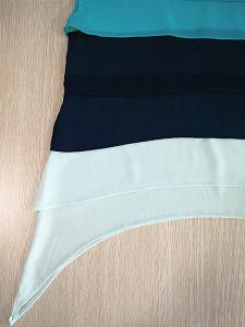 Fashion Clothes Women′s Blouse Chiffon Sleeveless Loose Round Neck Shirt pictures & photos