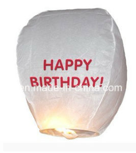 Air Biodegradable Asian Chinese Wish Flying Sky Fire Paper Lanterns pictures & photos