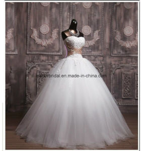 New Strapless Bridal Dresses Applique Wedding Ball Gowns Z2021 pictures & photos