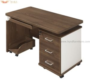 China Warm White Silver Top Design of Computer Table for Office