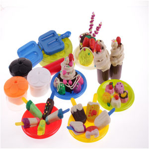 Kneading Color Play Dough with Plastic Container pictures & photos
