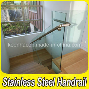 304 Stainless Steel Fittings Glass Stair Balustrade pictures & photos