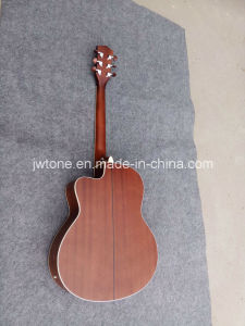 Multi Binding Abalone Inlay Custom Cutaway Quality Acoustic Guitar pictures & photos