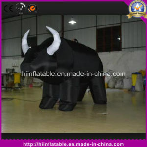 Outdoor Black Inflatable Cow Cartoon for Decoration Sale